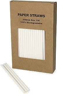 white paper straws bulk