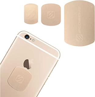 SCOSCHE MagicMount Magnetic Mount Replacement Plate Kit - MagicPlate Color Matching Metal Plates for iPhone/iPad and Mobile Devices - Includes 3 Plates and 2 Cleaning Swabs - Gold (MAGRKGDI)