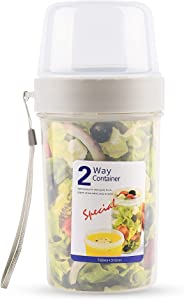 SunHome cereal and milk container on the go Double layer hiking food container snack cup camping and RV storage and organization crunch cup yogurt container