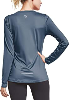 Baleaf Women's V Neck T-Shirt Long Sleeve Running Athletic Shirts
