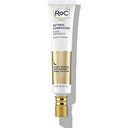 RoC Retinol Correxion Deep Wrinkle Anti-Aging Retinol Night Cream, 1 Ounce (Packaging May Vary) Retinol Moisturizer for Face, Wrinkle Cream for Face