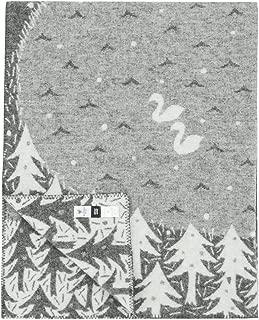 クリッパン(KLIPPAN) ミナ ペルホネン レイクインザバレー ウールブランケット シングル 130×180cm グレー(グレイ) mina perhonen Lake in the valley 227001 [並行輸入品]