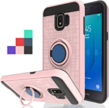 Wtiaw:Galaxy J2 Case(2019),Galaxy J2 Core Case,Galaxy J2 Dash Case,Galaxy J2 Pure Case,Galaxy J2 Core / J2 Dash Phone Cases,360 Degree Rotating Ring Kickstand Case for Galaxy J2 Core-CH Rose Gold