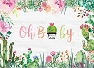 Dotted Pattern with House Plants Design Latin American Cartoon Style Foliage Background for Child Baby Shower Photo Vinyl Studio Prop Photobooth Photoshoot Cactus 8x10 FT Photography Backdrop
