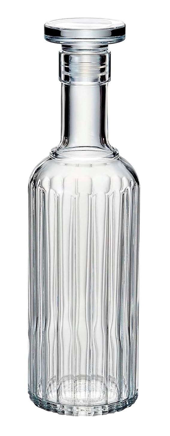 Luigi Bormioli Bach Spirits Bottle with Glass Stopper, 23.75 oz, Clear