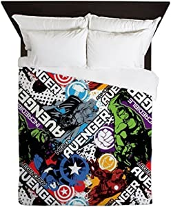 CafePress The Avengers Collage Queen Duvet Cover, Printed Comforter Cover, Unique Bedding, Microfiber