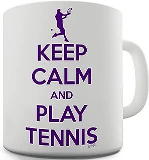 Twisted Envy Keep Calm And Play Tennis Ceramic Novelty Mug