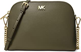 MICHAEL MICHAEL KORS Large Crossgrain Leather Dome Crossbody Bag For Women - Olive