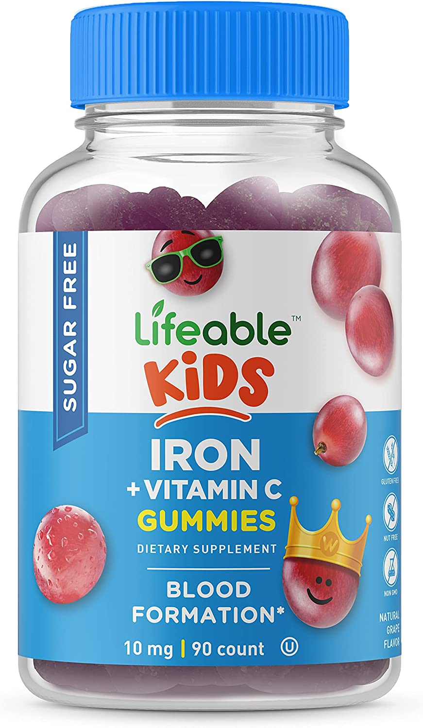 Lifeable Sugar Free Iron Dedication for Kids Vitamin C with Many popular brands 1 –