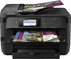 Epson WorkForce WF-7720 Wireless Wide-format Color Inkjet Printer with Copy, Scan, Fax, Wi-Fi Direct and Ethernet, Amazon Dash Replenishment Ready