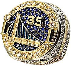 MVPRING 2018 Warriors #30 and #35 Replica Championship Ring Size 7-14 (The not Removable face of The Ring)