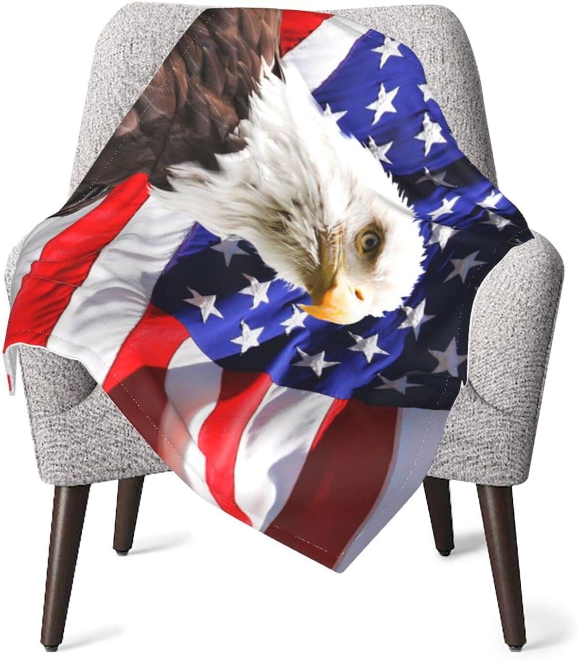 Duduho American Flag Patriotic Bald Soft Eagle Popular standard ...