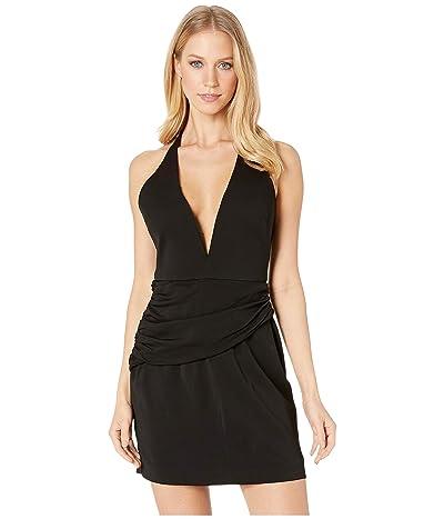 Nicole Miller Drape Mini Dress (Black/Black) Women