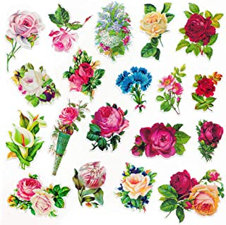 Everjoy Vintage Retro Oil Painting Style Flower Planner Stickers, DIY Decorative Embellishments, Adhesive Garden Wildflowers for Scrapbook, Journal, Card Making, Letters, Calendar – 37 Pieces