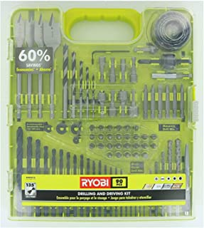 Ryobi A98901G 90 Piece Drilling and Driving Kit for Wood, Metal, Plastic, and Masonry