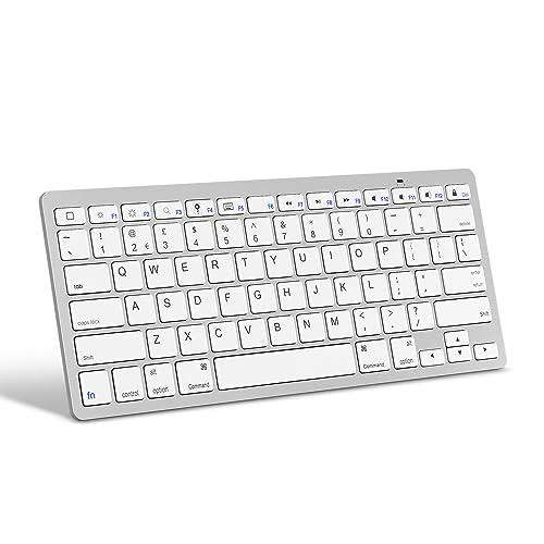 257203a9521 OMOTON Ultra-Slim Bluetooth Keyboard for Apple iPad Air, iPad Mini, iPad Pro