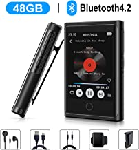 $48 » Clip MP3 Player, 48GB MP3 Player with Bluetooth 4.2, 2'' HD Touch Screen Portable MP3 MP4 HiFi Music Player with FM Radio, Recorder, Sports Pedometer, Perfect for Running, Expandable up to 128GB