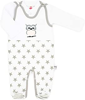 Makoma Baby Erstausstattung Unisex Strampler-Set mit Langarmshirt 50 – 74