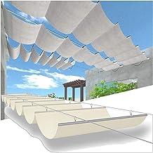 PENGFEI Intrekbare Pergola Luifel Schaduw Cover, Wave Shades Covers, Outdoor Retractables Pergola Luifel, Balkon Patio Zon...