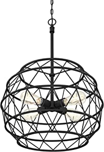 Westinghouse Lighting 6367900 Sierra Four-Light Indoor Chandelier, Matte Black Finish