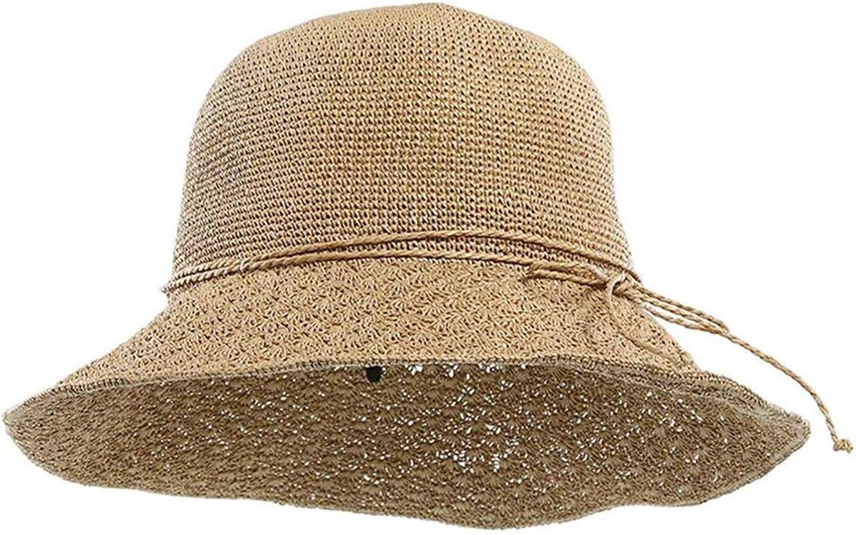 CALOIODS Summer Hats for Women Straw Hat New Openwork Flowers Beach Cap Hats