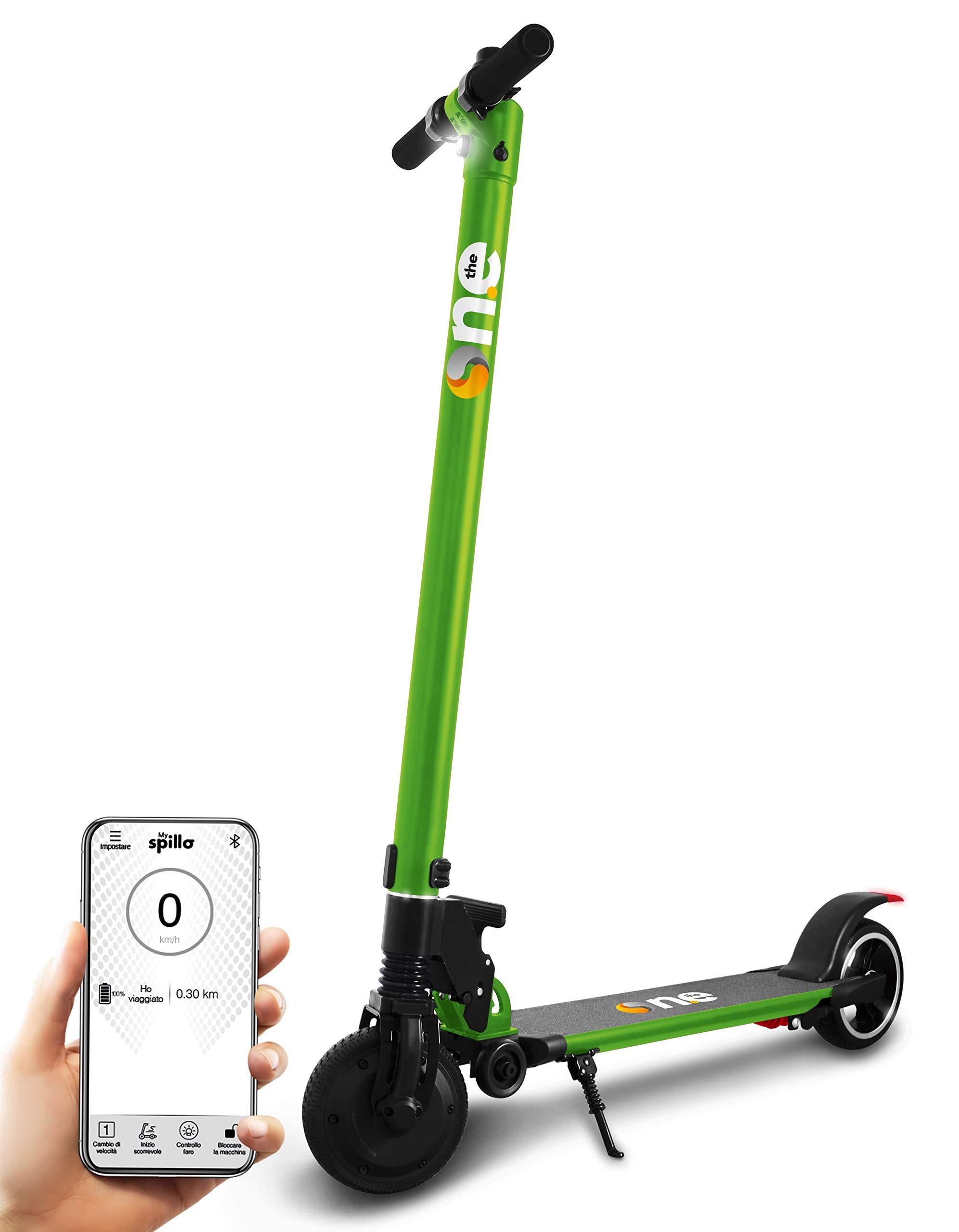 the one Lime Green, Monopattino Elettrico 350W 36V SpilloPRO Adulto Unisex, No Size