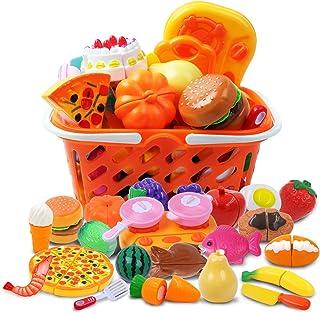comprar comparacion DigHealth 34 Piezas Alimentos de Juguete, Corte de Frutas y Alimentos Falsos, Cortar Frutas Verduras, Temprano Desarrollo ...
