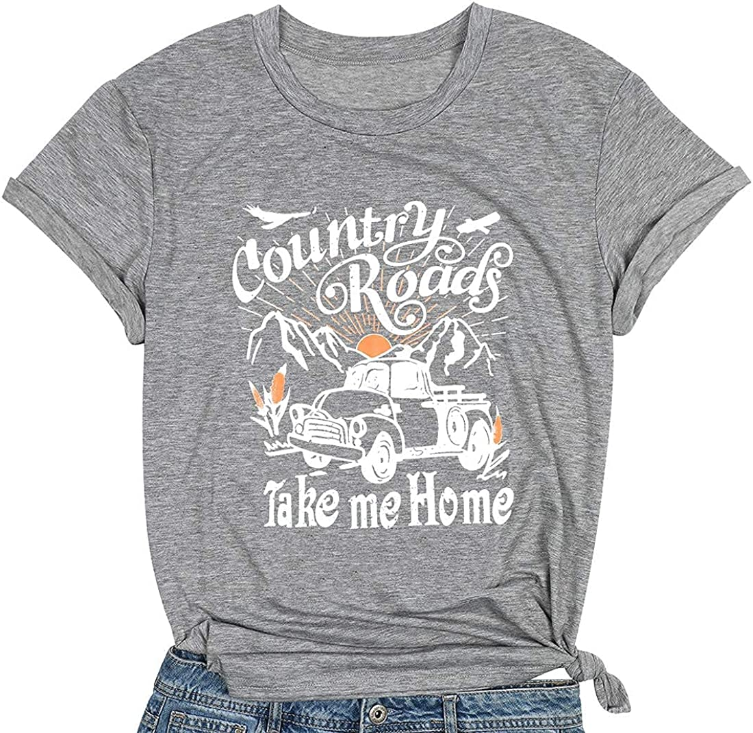 Country Shirts for Women Country Music Shirt Vintage Graphic Short Sleeve Tee Tops