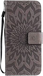 Hllycr A31 2020 Leather Flip Case Flip Kickstand Case with Card Slots Protective Cover for Oppo A31 2020 - Grey