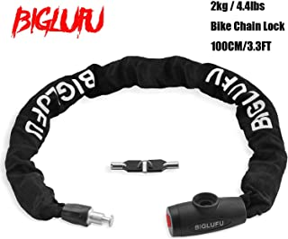 BIGLUFU Bike Lock Chain Heavy Duty Scooter Bicycle Motorcycle Motorbike Locks Security Chains Long, 11.5mm x 40