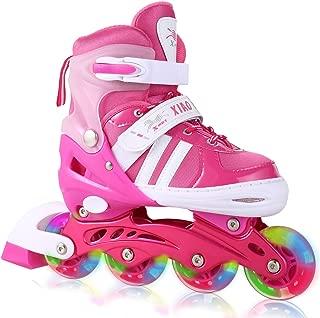 ANCHEER Inline Skate for Kids Adjustable Size Roller Skate with Light Up Wheels Outdoor for Boys Girls Children Beginner