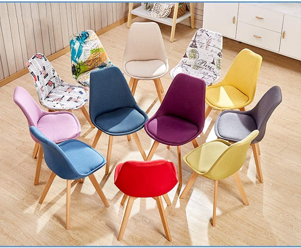 SLL- Chaise de Salle, Chaise de Bureau Simple, créative Dossier, Chaise Loisirs, Maison Adulte Chaise de Salle Moderne (Color : Beige) Blue-a