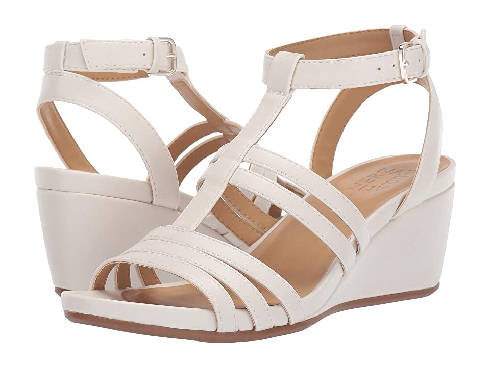 Naturalizer Alisa (Alabaster Smooth) Women's Wedge Shoes, White