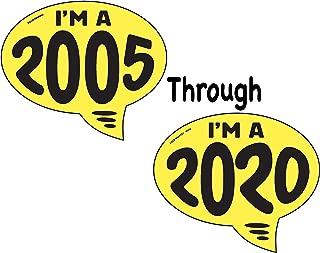 Ez-line Vinyl Year Slogan Bubbles for Car Lots 1 Dozen Windshield Decal Stickers Dealership Numbers (2006)