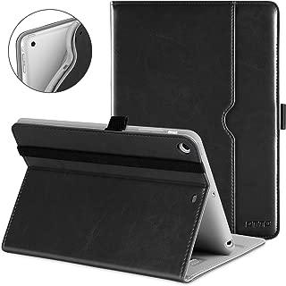 DTTO iPad Mini 1 2 3 Case, Premium Leather Folio Stand Cover Case with Multi-Angle Viewing and Auto Wake-Sleep Function, Front Pocket for Apple iPad Mini 1/Mini 2/Mini 3 - Black