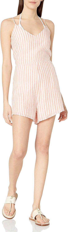 Seafolly Women's Standard Stripe Tie Back Linen Romper