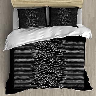 Motif Pulsar Joy Division Unknown pleasures Duvet Cover Duvet Cover Set With Zipper Closure Pillowcase Retro Bedding Set R...