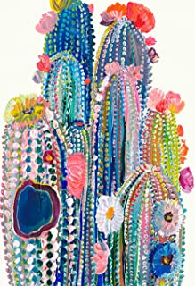 DIY 5D Diamond Painting Kit, BENBO 15.8x11.8In Round Full Drill Colorful Cacti Diamond Painting by Numbers Diamond Embroidery Kit Cross Stitch Rhinestone Embroidery Pictures Arts Craft for Adults