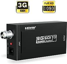 ABLEWE SDI to HDMI, SDI HD-SDI 3G-SDI to HDMI 720p/1080p Adapter Video Converter with Embedded Audio