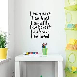 Vinyl Wall Art Decal - I Am Smart I Am Kind I Am Silly I am Honest - 22