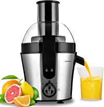 Centrifugal Juice Extractor 300 Watt 3.4in Wide Mouth Juice Machine Easy Clean with Brush,Extract Fresh 350ml Juice 13.6 x 9.05 Small Volume Cold Press Juicer,Suitable Most Fruit and Vegetable (Juicer 02)