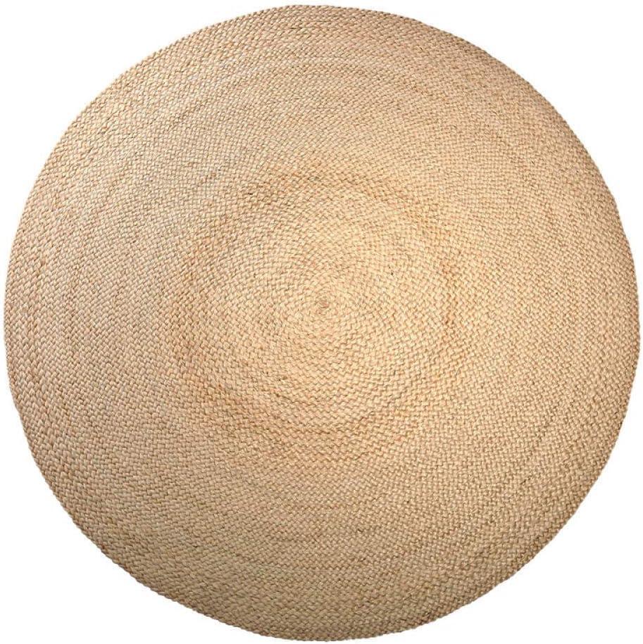 Wuyuana Max 51% OFF Carpet Popular brand Hand-Woven Jute Round Mat Straw Rug Woven Linen