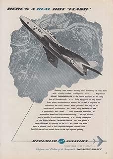 Here's a real hit flash - Republic RF-84F Thunderflash jet ad 1954