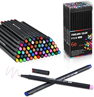 Cheelom Plumas de colores Fineliner Juego de Planificador Bolígrafos de 60 colores punta de fieltro de color súper fino de...