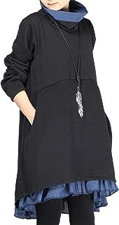 Women's Flared Layers Dress Hi-Low Ruffle Hem Tunic Top