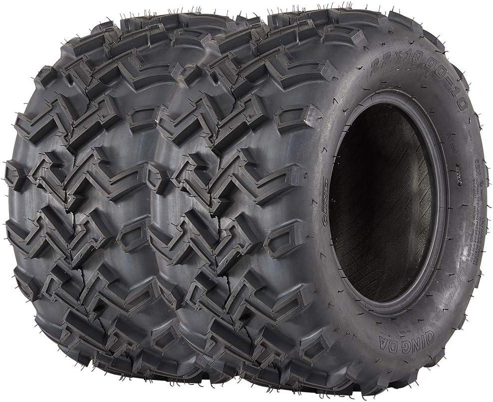Bargain Set of Fees free 2 Tires Sport 22x10-10 4PR 22x10x10 ATV