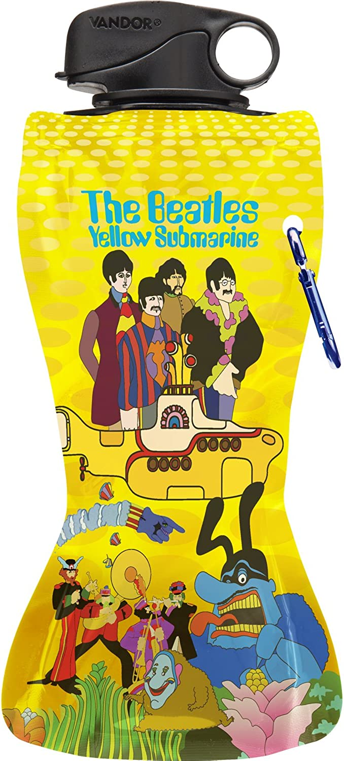 The Beatles Yellow Submarine Collapsible Water Bottle