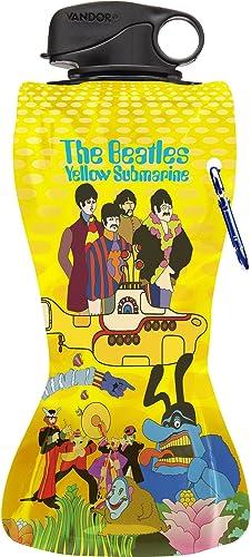 buen precio The Beatles amarillo Submarine Collapsible Collapsible Collapsible Botella de Agua  venta