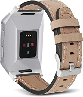 SKYLET Compatible with Fitbit Ionic Bands, Genuine Leather Classic Bands Compatible with Fitbit Ionic Smart Watch Wristban...