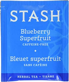 Stash Tea Blueberry Superfruit Herbal Tea 100 Count Tea Bags in Foil (packaging may vary) Individual Herbal Tea Bags for U...